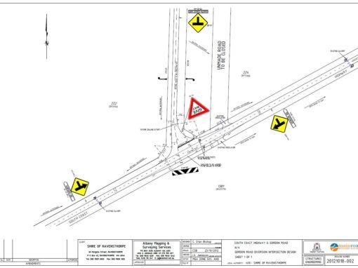 Gordon Road Black Spot Intersection Upgrade (2013)